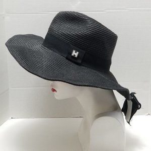 Peter Grimm Hat Black Wire Brim Allona New
